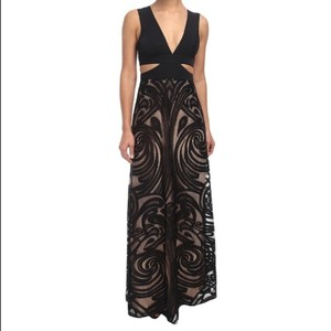 BCBGMAXAZRIA Bcbg Marilyne Nude Black Gown Dress
