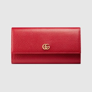 Gucci NEW GUCCI RED continental wallet with small Double G