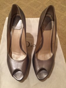 Dior Holiday Designer Heel Silver Pumps