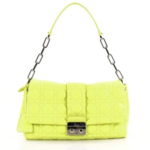 Dior Christian Satchel in Yellow