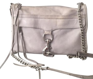 Rebecca Minkoff Mac Clutch Silver Hardware Cross Body Bag