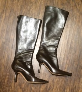 Jimmy Choo Designer Knee High Heel Chocolate Brown Boots