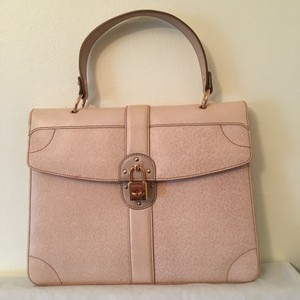 Salvatore Ferragamo Satchel in Beige / Cream / Pink