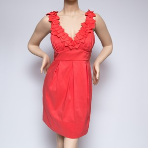 BCBGMAXAZRIA short dress Orange Coral on Tradesy
