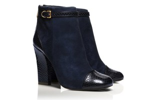 Tory Burch Gracie Navy Boots