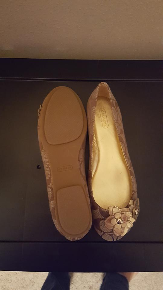 611f5eb04 Coach Signature/Metallic Lena Flats Size US 7.5 Regular (M, B) - Tradesy