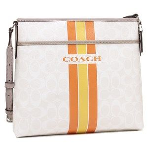 Coach Monogram Classic Canvas Gray Messenger Bag