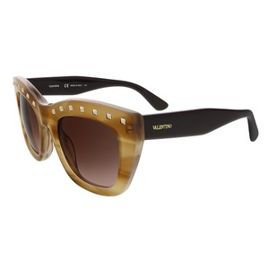 Valentino Valentino Striped Honey Cat Eye Valentino Sunglasses