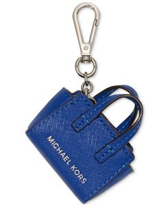 Michael Kors NEW Michael Kor leather mini Selma Bag charms Key purse chain Blue