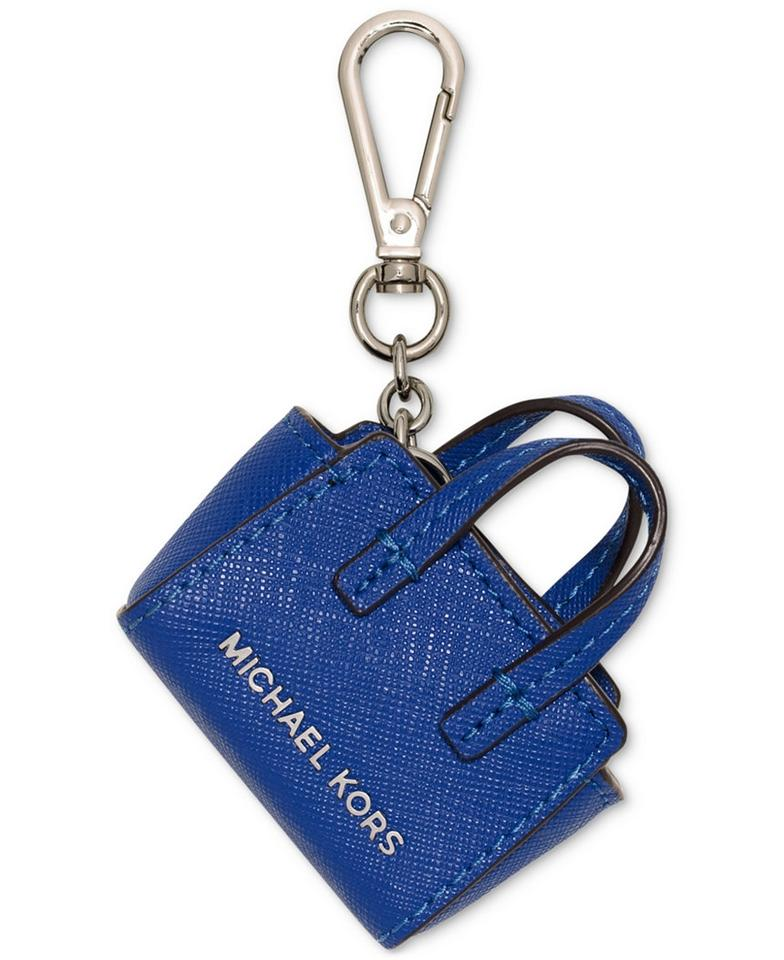 0642a8609a1b Michael Kors NEW Michael Kor leather mini Selma Bag charms Key purse chain  Blue Image 0 ...