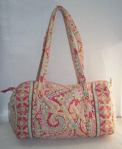 Vera Bradley Pink Capri Melon Travel Bag