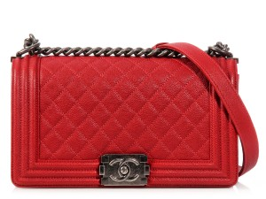 Chanel Medium Quilted Ch.k1003.05 Ruthenium Leather Shoulder Bag