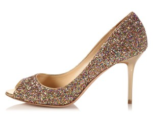 Jimmy Choo Glitter Jc.k1007.03 Sparkle Stiletto Metallic Pumps