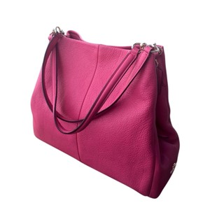Coach Pink Leather Shoulder Bag