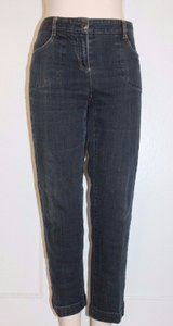 Theory Crop Stretchy Denim Jeans Skinny Pants BLUE