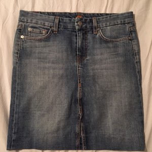 7 For All Mankind Skirt Blue