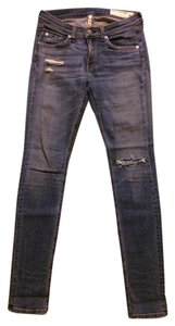 Rag & Bone And Distressed Brunswick Skinny Jeans-Distressed