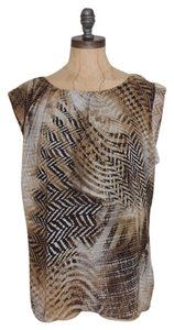 Vince Camuto Animal Print Top MUTI COLORED