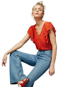 Free People Romantic Crochet Festival Top Persimmon