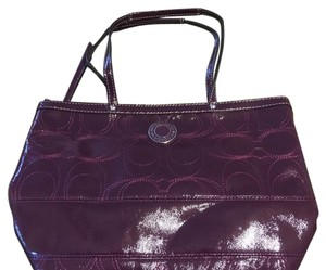 Coach Tote in Wine