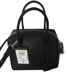 MCM Leather Satchel in Black