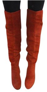 Sam Edelman Thigh High Suede Tie Rust Boots