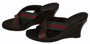 Gucci brown / green / red Wedges