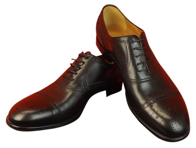Item - Black Betis Derby Leather Wingtip Perforated Oxfords 10 11 # 312279 Shoes