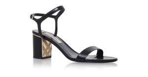 Burberry Black/Gold Sandals