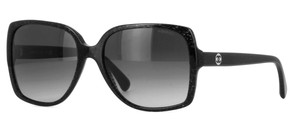 Chanel 5267 Sunglasses Wayfarers CC Logo Black Gradient Square Oversized