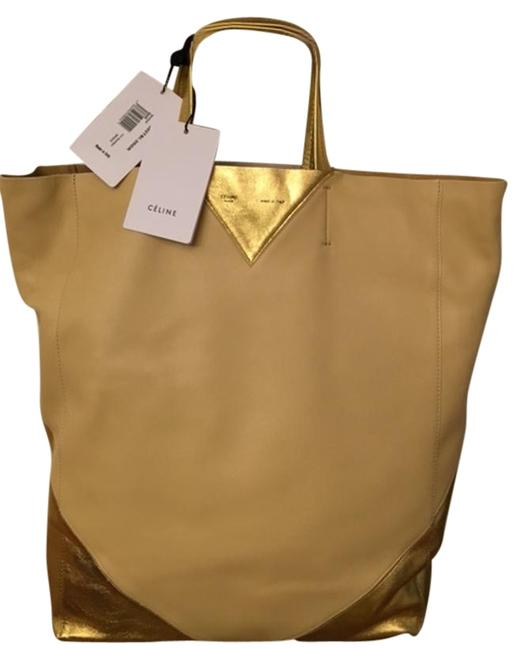 Item - Cabas Gold Leather Tote