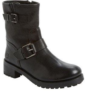Tory Burch Motorcycle Bootie Black Boots