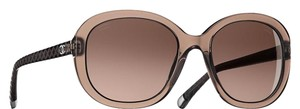 Chanel 5328 CC Logo Brown Oval Quilted Quilting Oversized Classic Polarized