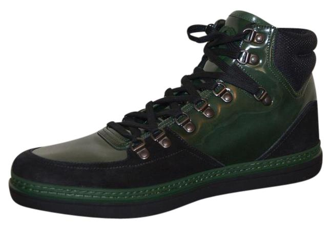 Item - Green Mens Hitop Leather Suede Gg Eu 42.5 Sneakers Size US 9.5 Regular (M, B)