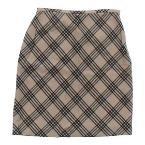 Other Plaid A-line Mini Skirt Beige