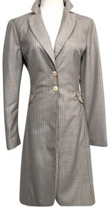 Bill Blass Grey peach pinstripe Blazer