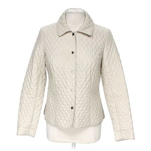 Briggs Snap Front Quilted Diamond Quilted Riding Beige Jacket