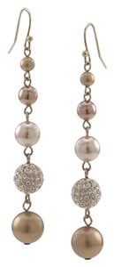 Carolee Shawna Gold Crystal and Pearl Linear Drop