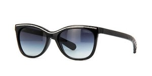 Chanel 6041 Black CC Logo Chain Link Signature Aviator Cat Eye Quilted Cateye
