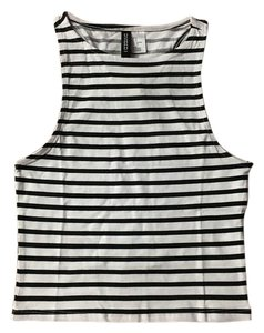 H&M Top Black and White Striped