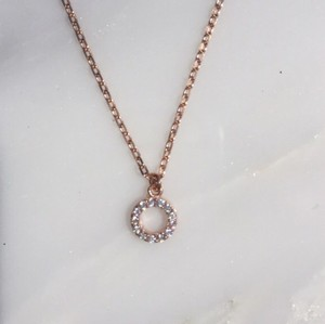 Muse Refined Eternity Necklace - Rose Gold