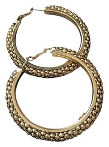 R.J. Graziano Textured Bead Hoop Earrings