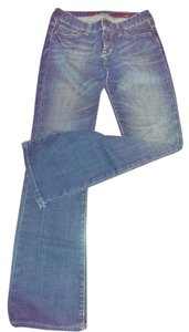 X2 Low Rise Size 10 Boot Cut Jeans-Distressed