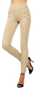 H&M New Fall Leggings Warm Skinny Pants Beige