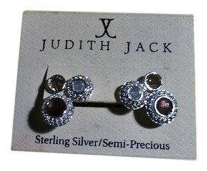 Judith Jack Judith Jack Sterling Silver /Semi-Precious Stones Earrings Pierced