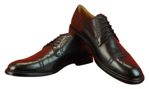 Gucci Black Leather Wingtip Perforated Derby Oxfords 12.5 13.5 #298772 Shoes