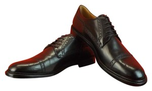 Gucci Black Leather Wingtip Perforated Derby Oxfords 12 13 #298772 Shoes