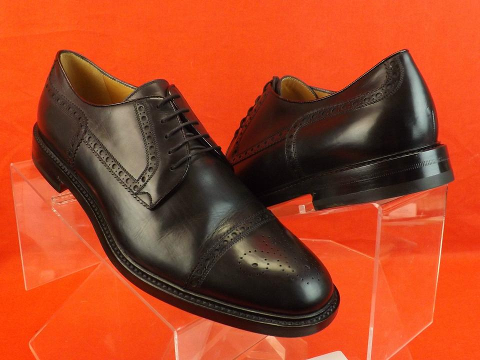 3bcf7342063 Gucci Black Leather Wingtip Perforated Derby Oxfords 12 13  298772 Shoes  Image 6. 1234567