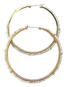 Juicy Couture Juicy Pearl Hoops With Diamond Crystals