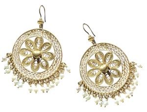 Juicy Couture Pearl Filigree Drop Earrings